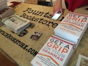 Fountain Bookstore table at Grammartopia-RVA