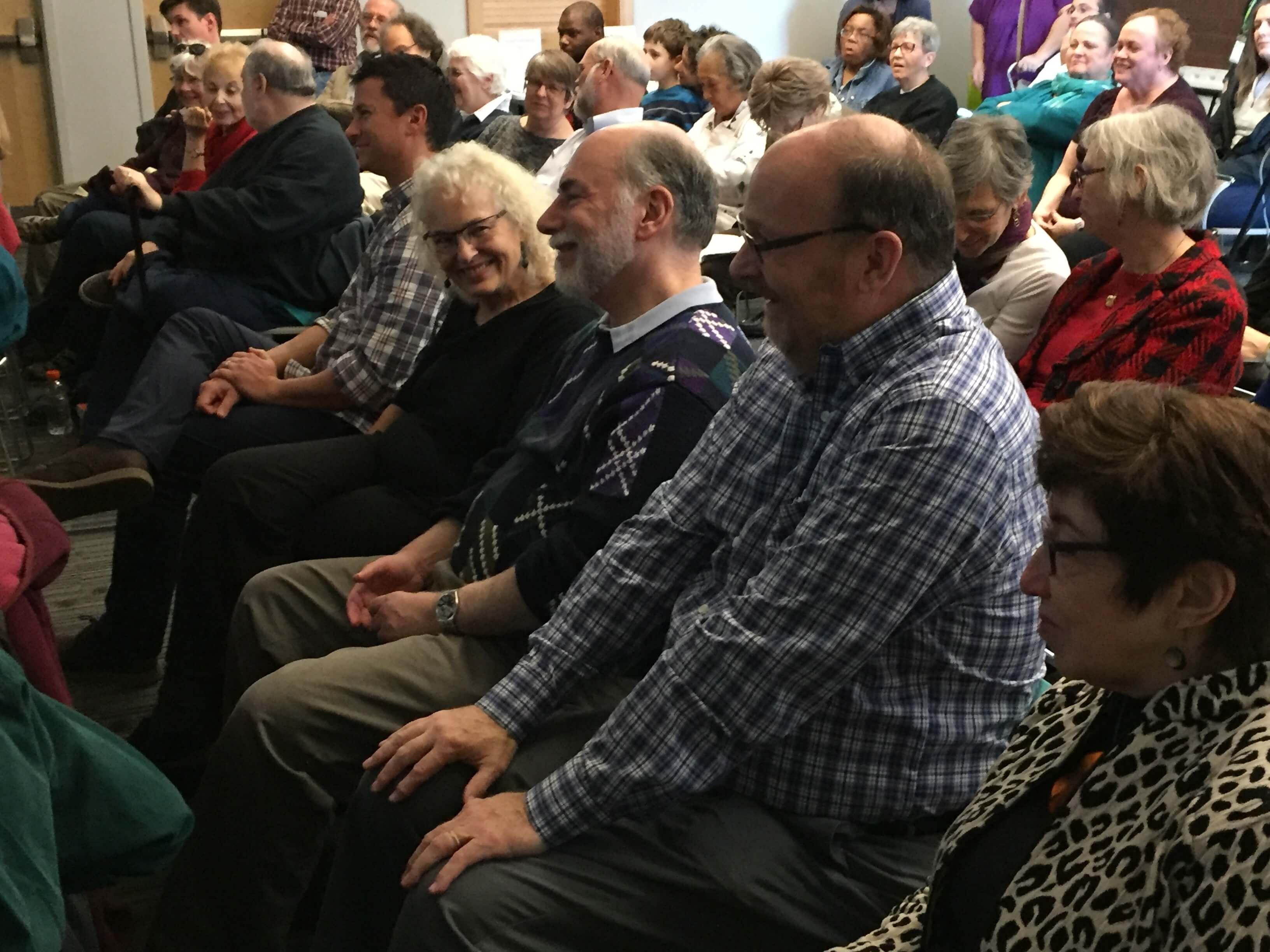 Grammartopia-Durham audience smiles